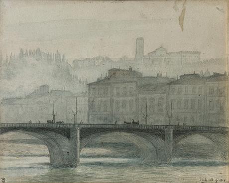 Christian Bang: Ponte alle Grazie, Verona (1920). I familiens eje. Affotografering af Ole Haupt.