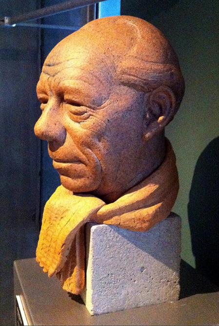 Jacob Bang: Buste af Gunnar Nu Hansen (1993). Frederiksborg Museet. Affotografering: Ole Haupt.