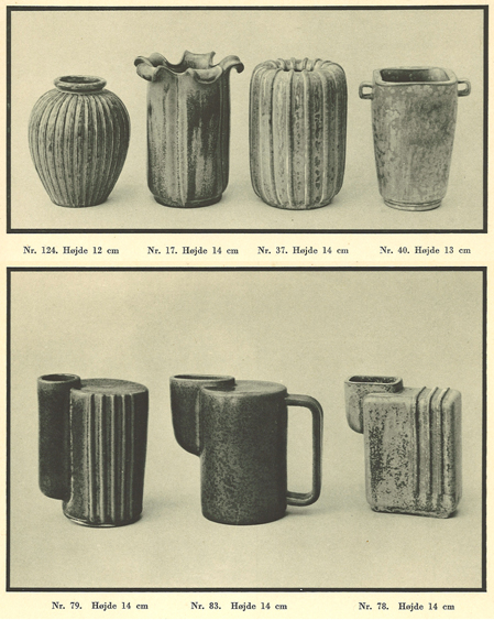 Arne Bang: Udvalg af stentøjsproduktionen fra kataloget 1937. Skan af Simon Bang. I familiens eje.