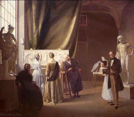 Besøgende i Thorvaldsens atelier (1899)