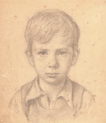 """Christian Bang: """"Sønnesøn Jacob Bang"""" (ca1939). I familiens eje. Affotografering af Ole Haupt."""