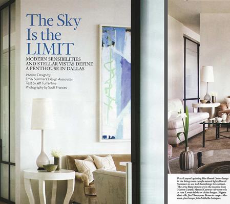 Amerikansk boligblad, med glimt fra den amerikanske skuespiller Ross Perot Jr. private hjem, og hans samling af Arne Bang stentøj.