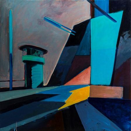 """Simon Bang: """"Broen er oppe"""" (1996). I familiens eje. Affotografering af Ole Haupt."""